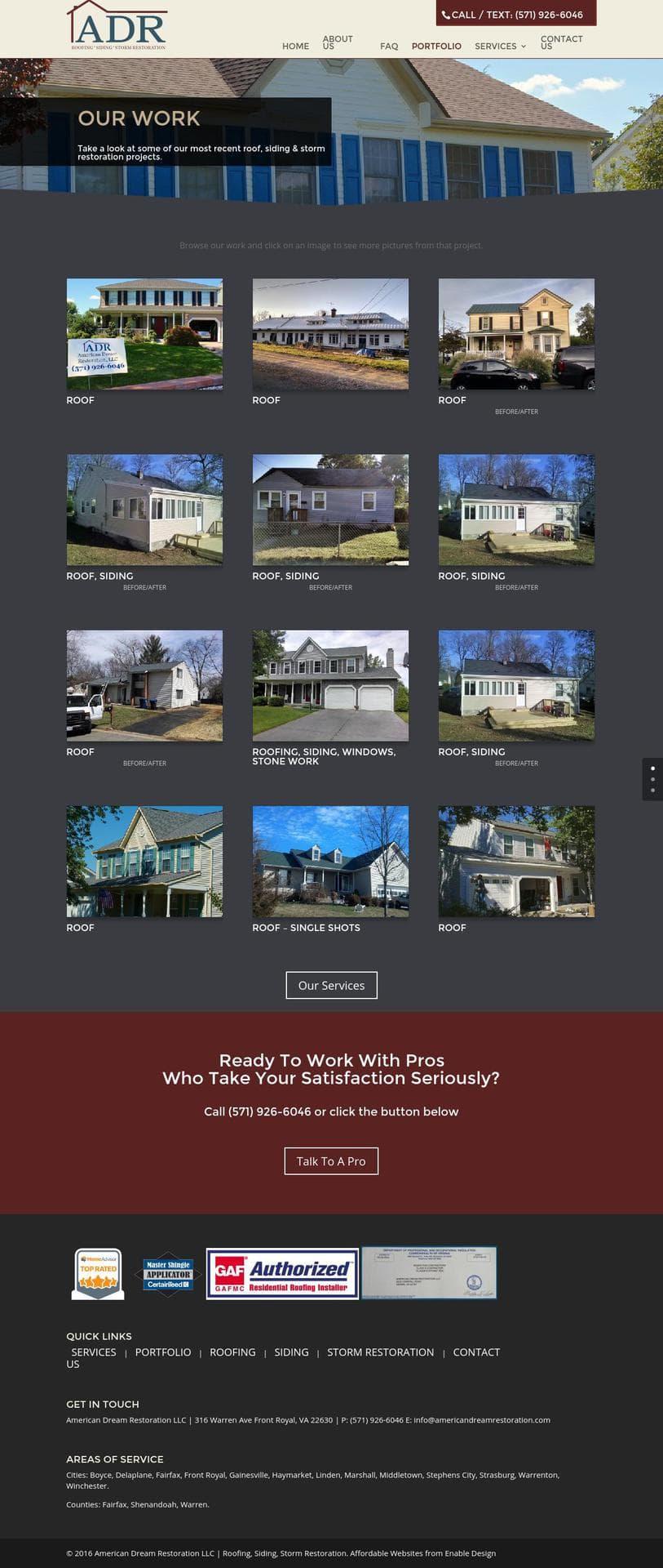 Adr Portfolio American Dream Restoration Llc