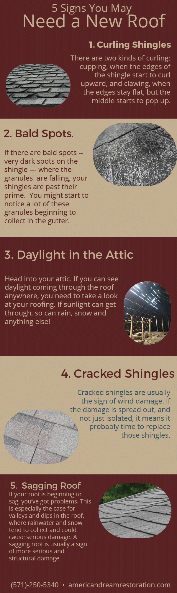 1) Curling And Buckling Shingles