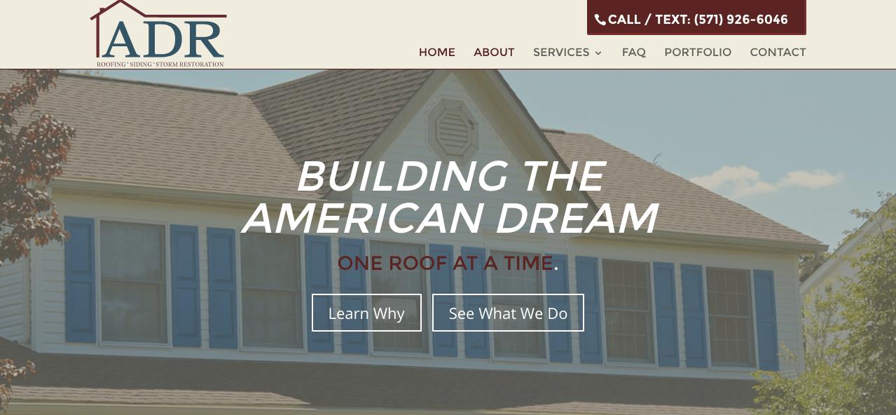 American Dream Restoration Roofing Siding Storm