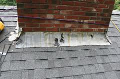 Roof Flashing Damage